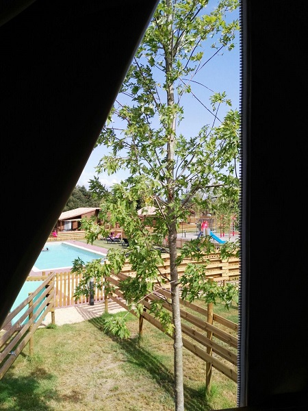 vista des d'una tenda niuet