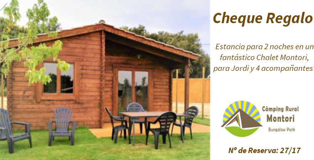Cheque Regalo Camping Rural Montori