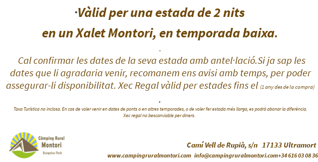 Xec Regal Càmping Rural Montori